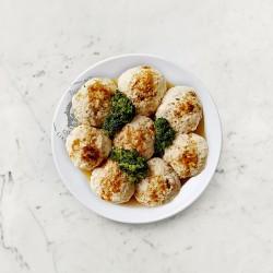 柚肉和風醬_清蒸豆腐雞肉丸