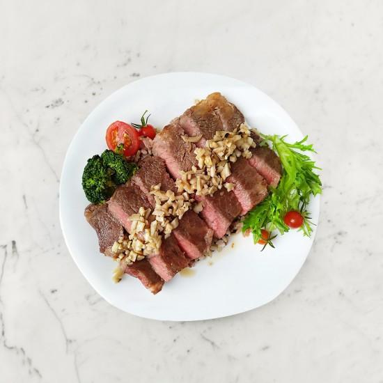 柚肉和風醬_清爽牛排食譜
