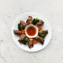 柚肉和風醬_玉米筍牛肉捲
