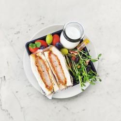 柚肉果醋_糖醋雞排三明治