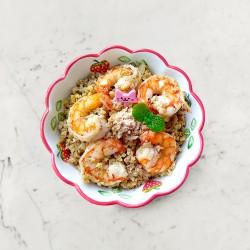 柚肉和風醬_鮮蝦花椰菜米炒飯