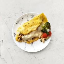 柚肉和風醬_和風菇菇歐姆蛋