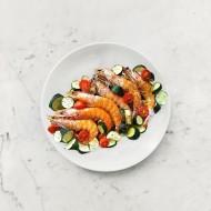 柚肉和風醬_櫛瓜烤蝦