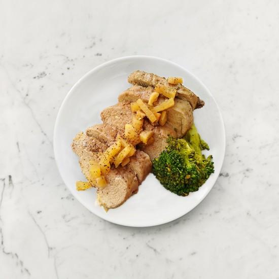 柚肉和風醬_果香氣炸豬排
