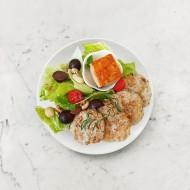 柚肉和風醬_起司鮪魚雞肉餅