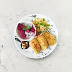 柚肉和風醬_蛋煎饅頭佐煎蛋