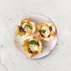 柚肉和風醬_焗烤鹹味吐司小塔